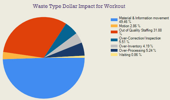 Waste Type Dollar Impact for Workout